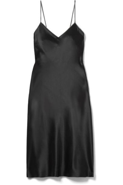 Helmut Lang dress mini dress mini embellished black silk satin