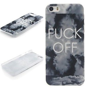 Amazon.com: wev fuck off pattern pc hard protective case for iphone 5/5s: cell phones & accessories