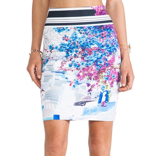 Clover canyon santorini stripe neoprene skirt
