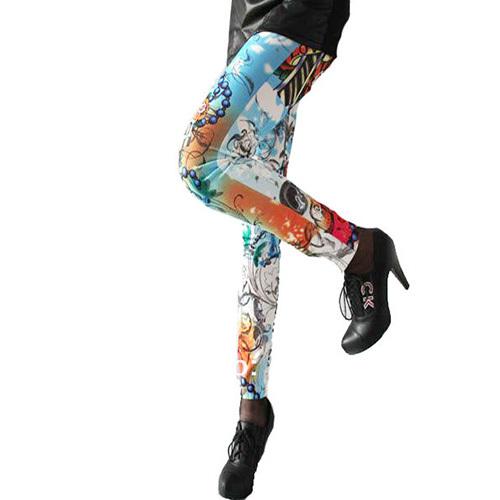 Fashion shopping mall — [gzxy0200]fashion floral print elastic leggings