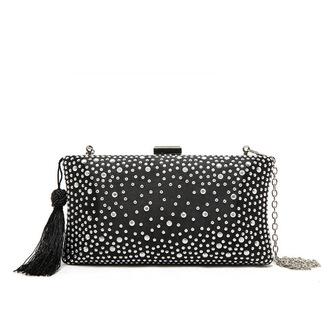 bag black bag clutch party bag beaded bag special occasion