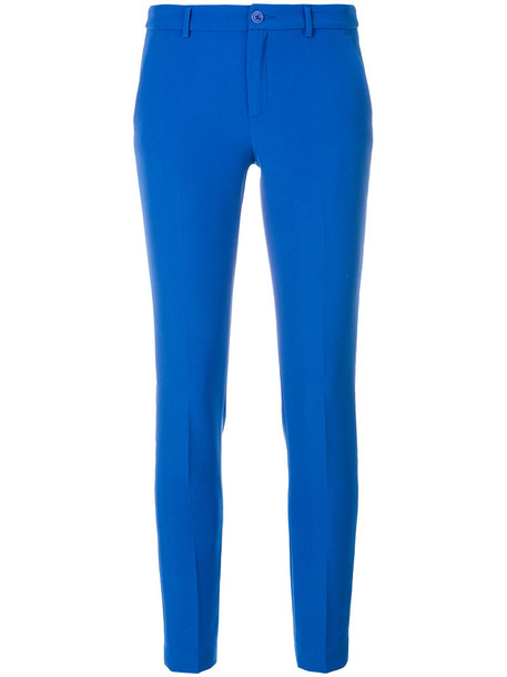 LIU JO women spandex blue pants