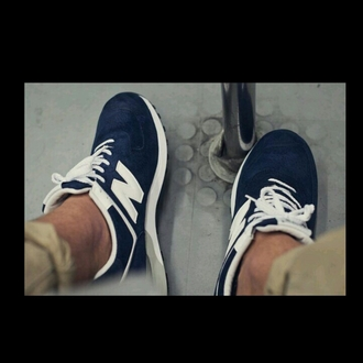 shoes new balance 576 suede navy newbalance blue nb dope white streetwear style streetstyle