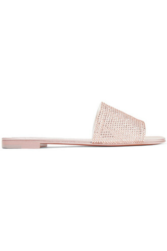 embellished leather suede pink shoes