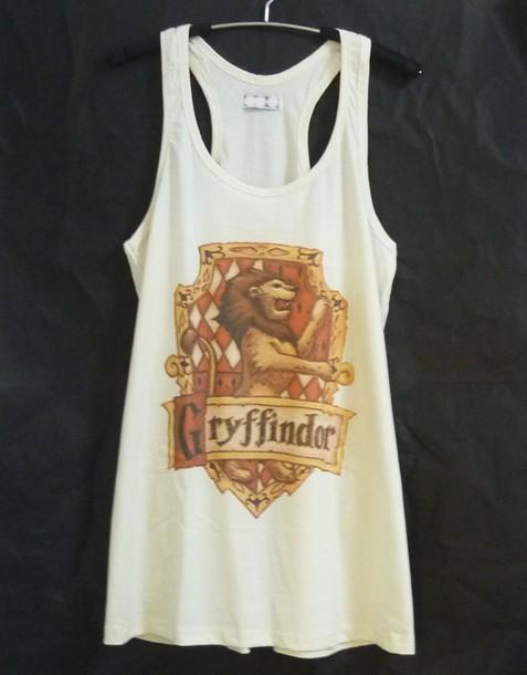 shirt gryffindor tank top gryffindor shirt cute tank top women shirts