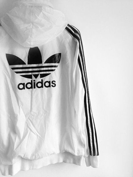 e2c76a14f jacket adidas white windbreaker coat windbreaker white jacket black and  white