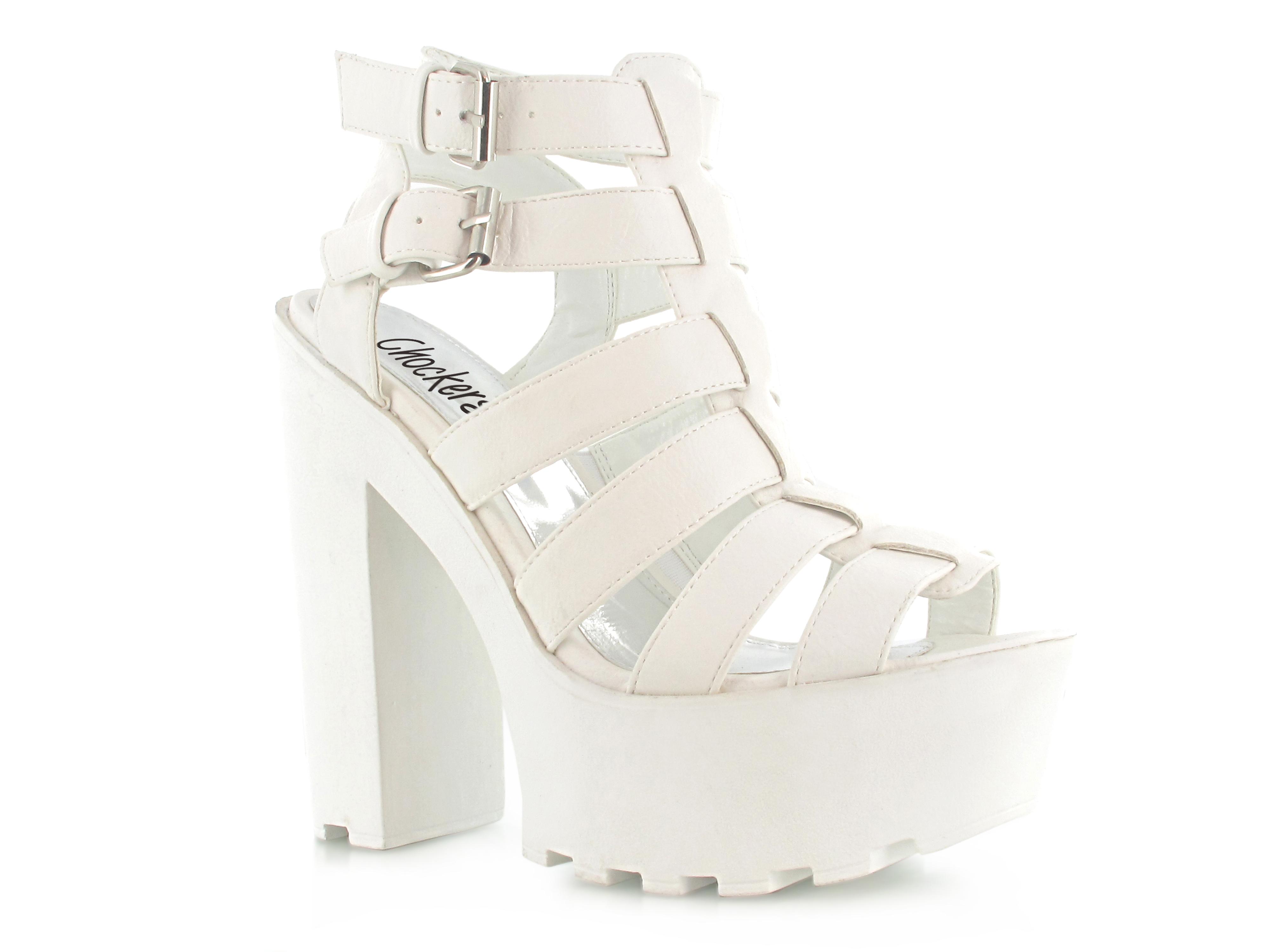 White Thick Heels - Is Heel