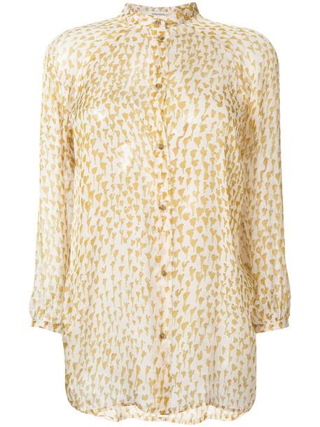 humanoid blouse button up blouse sheer women nude silk top