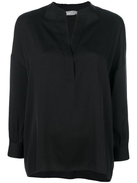 Vince blouse women spandex black silk top