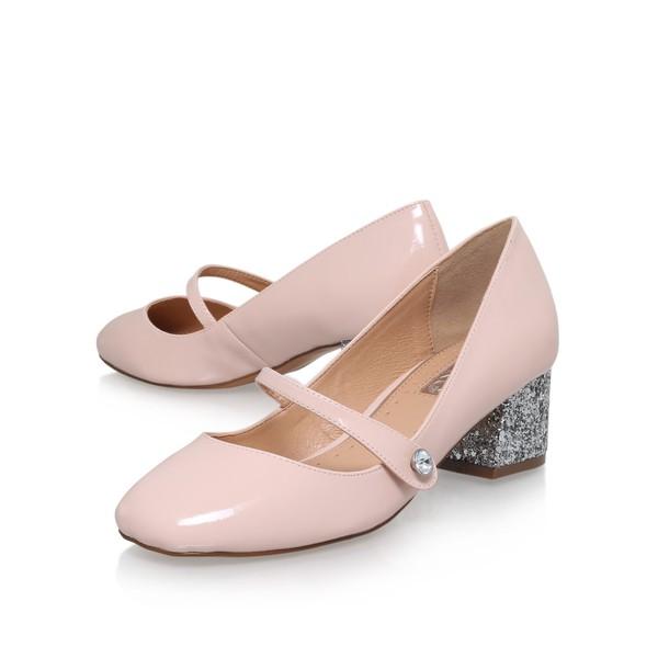 Nude Medium Heel Court Shoes USENN84Cty