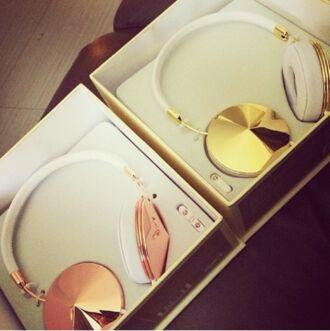 jewels headphones gold earphones