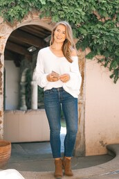a lonestar state of southern,blogger,sweater,jeans,shoes,jewels,ankle boots,fall outfits