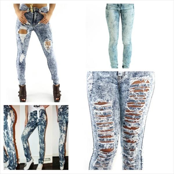 jeans acid wash jeans