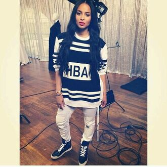 jeans ciara ciara harris hood by air white pants see through white jeans black and white