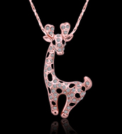 jewels,charming jewelry,chic style,rose gold necklace,cool,fashion jewelry,deer necklace,lovely