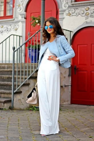 fashionhippieloves jumpsuit jacket shoes sunglasses jewels