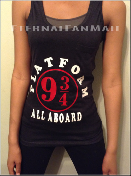 harry potter harry potter tank top harry potter clothing tank top platform 9 3/4 harry potter shirts