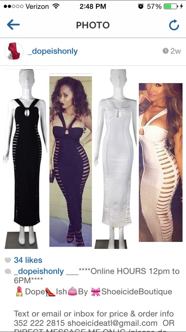white halter bandage dress