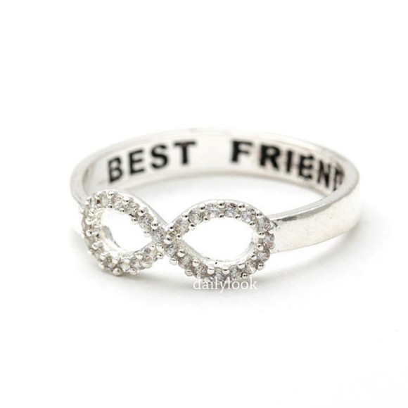 jewels jewelry infinity ring ring infinity best friends ring best friends infinity ring engraved ring infinity - best friends ring