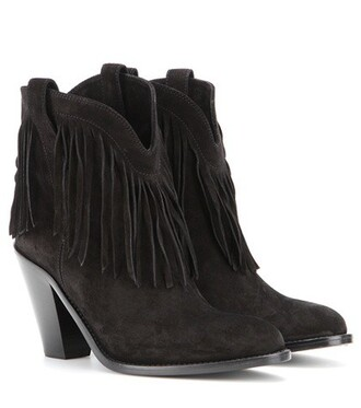 leather ankle boots new boots ankle boots leather suede black shoes