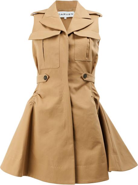 dress shirt dress women cotton brown