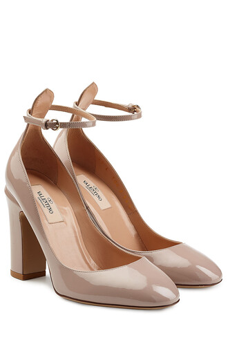 pumps leather rose shoes