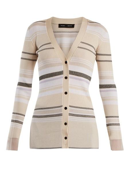 Proenza Schouler cardigan cardigan knit cream sweater