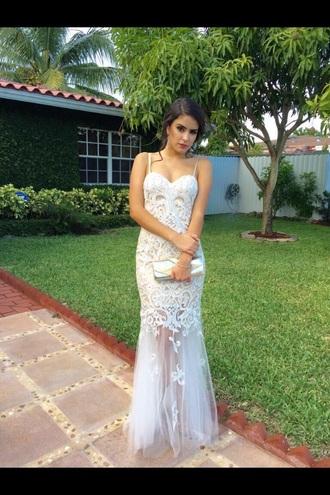 dress prom dress white long pattern white prom dress