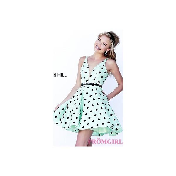 dress dresses evening sherri hill polka dots bonny rebecca