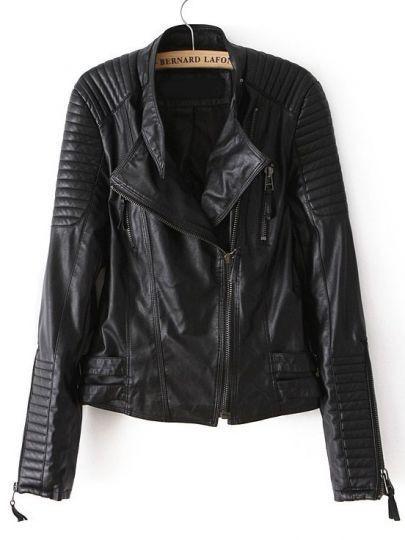 Ribbed biker jacket