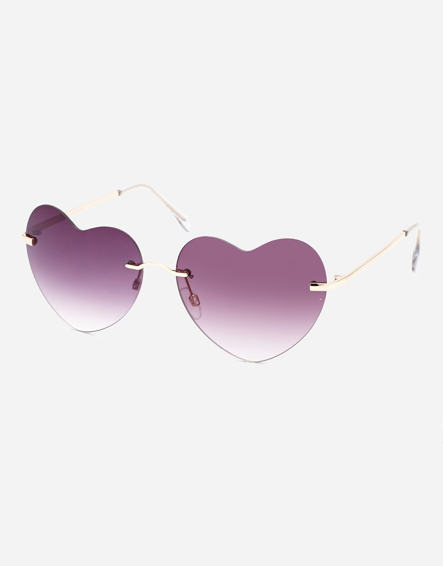 ASOS Heart Sunglasses with Smoke lens at asos.com