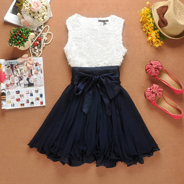 dress cute dress bows party dress