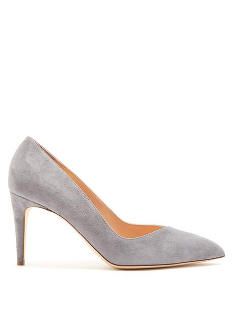 Rupert Sanderson suede pumps pumps suede grey shoes