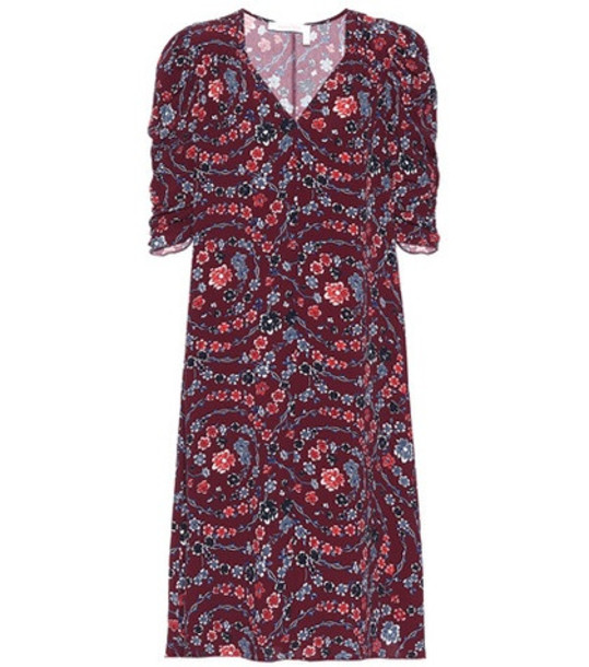 See By Chloé Floral-printed dress in red