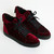 Virtue Velvet Sneaker - Deep Red