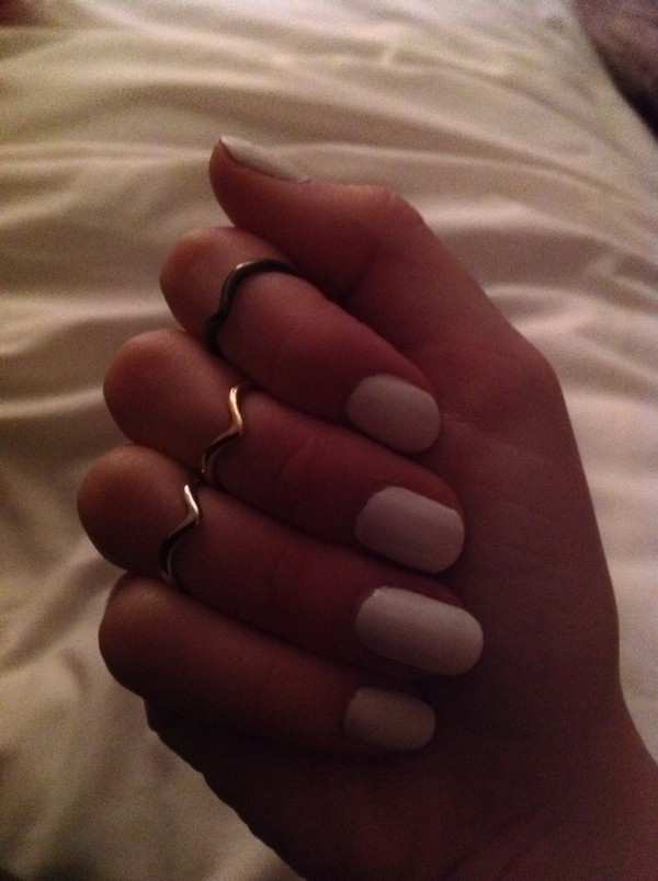 jewels nail polish knuckle ring ring gold ring gold ring girlie white