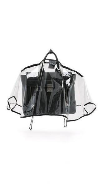 clear handbag black bag