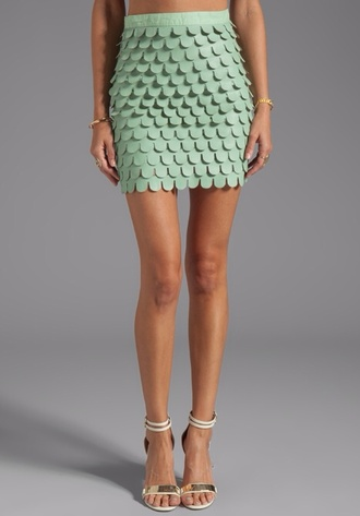 mint skirt green scale skirt midii mini skirt green short
