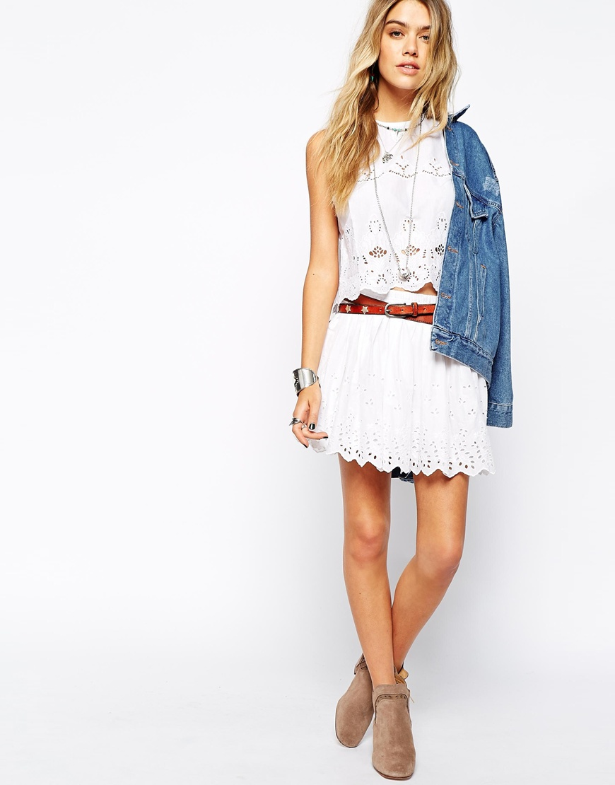 Denim & Supply By Ralph Lauren Brodiery Skirt at asos.com