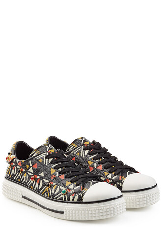 embellished sneakers leather multicolor shoes
