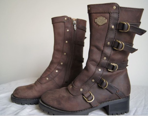 Unique  Shoes  Casual Shoes  Women39s HarleyDavidson Engineer Boots Brown