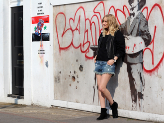 t-shirt jacket shoes shorts sunglasses blame it on fashion