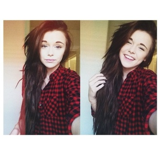 shirt flannel shirt acacia brinley pretty acacia forever 21 flannel red flannel shirt red flannel