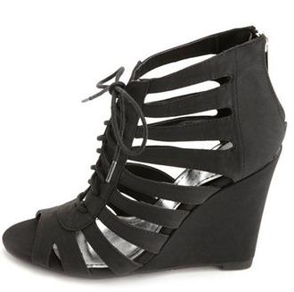 shoes black wedge wedges
