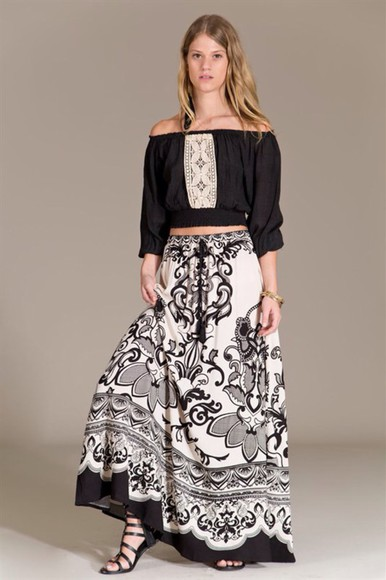 skirt maxi skirt maxi peace sign print