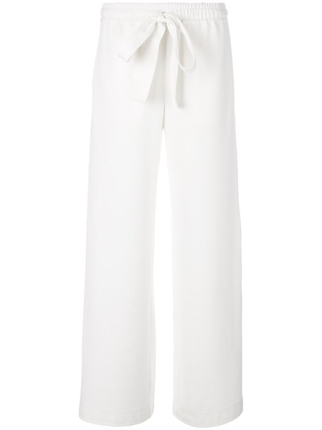 See by Chloe women spandex drawstring white pants