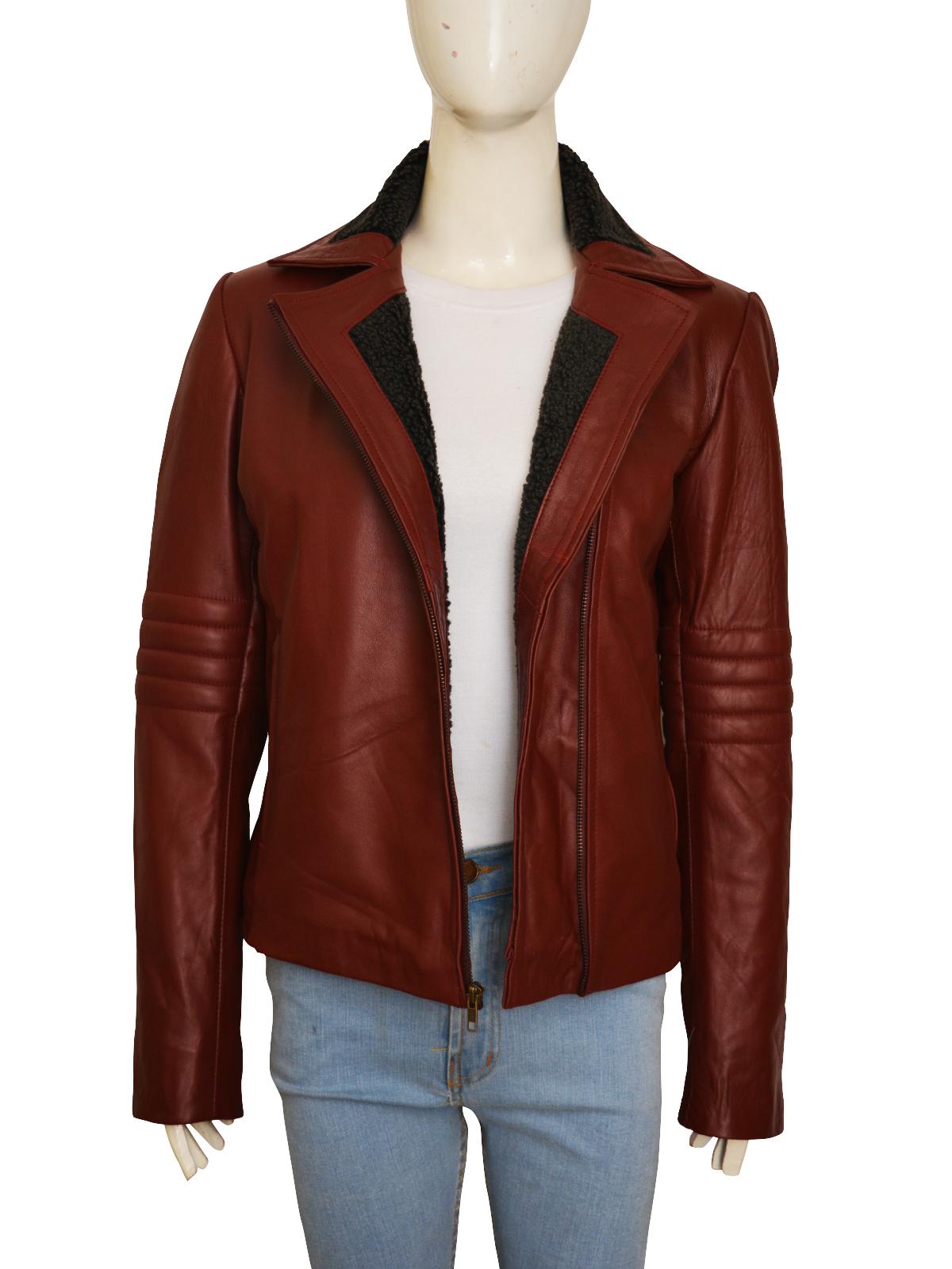Stylish Maroon Leather Jacket For Her | Women Jacket | MauveTree