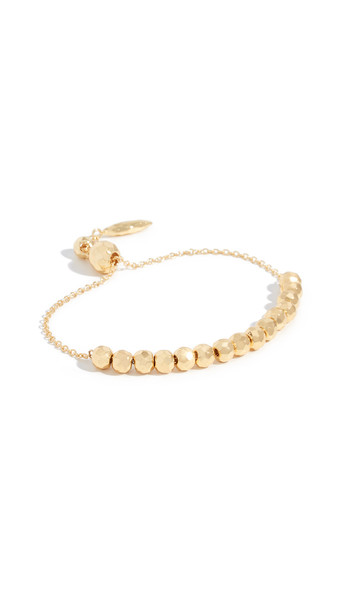 Gorjana Laguna Large Adjustable Bracelet in gold / yellow