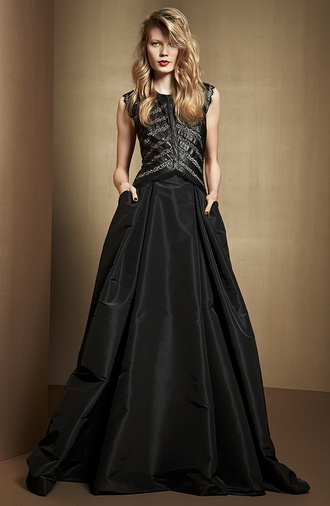 dress ribs long dress black shiny pretty long black dress glamgerous studded
