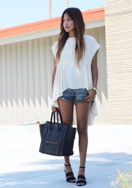 sincerely jules blouse shorts bag shoes jewels